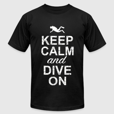 Dive - Keep Calm And Dive On - Men's Fine Jersey T-Shirt