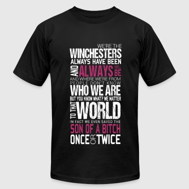 Winchesters - We save son of a bitch once or twi - Men's Fine Jersey T-Shirt