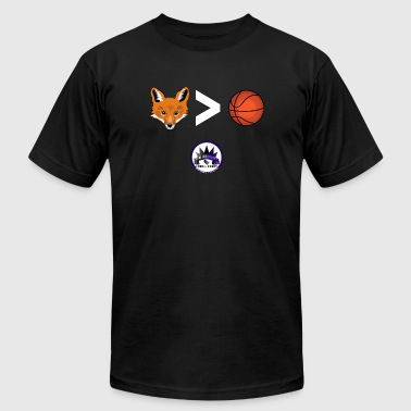 Fox is Greater-than Ball - Men's Fine Jersey T-Shirt