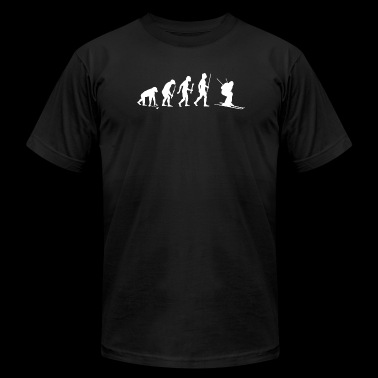 Skiing - Evolution of Man and Skiing - Men's Fine Jersey T-Shirt