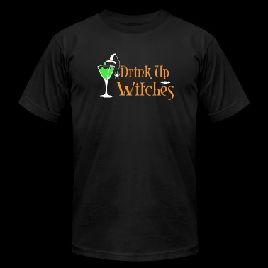 Witch - Halloween Drink Up Witches - Men's Fine Jersey T-Shirt