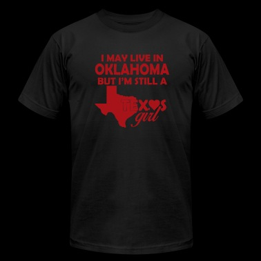 Oklahoma - i may live in oklahoma but i'm still - Men's Fine Jersey T-Shirt