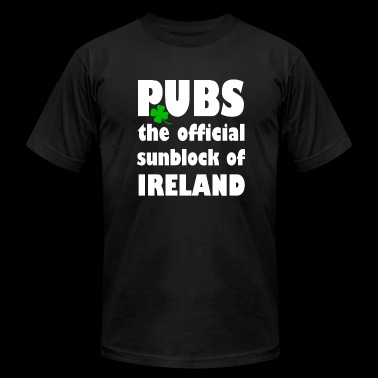 IRELAND PUBS the official sunblock of IRELAND - Men's Fine Jersey T-Shirt