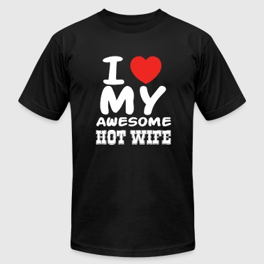 Wife - I love my awesome hot wife - Men's Fine Jersey T-Shirt