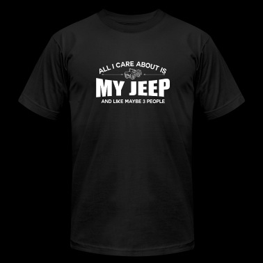 Jeep - All I care about is my jeep - Men's Fine Jersey T-Shirt