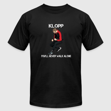 Klopp fan - You'll never walk alone - Men's Fine Jersey T-Shirt