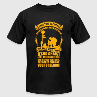 Veteran - Military Veteran Soldier Jesus Christ - Men's Fine Jersey T-Shirt