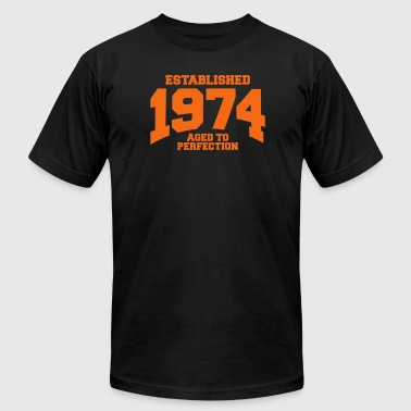 aged to perfection established 1974 - Men's Fine Jersey T-Shirt