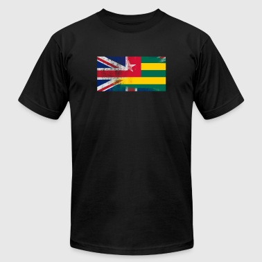 British Togolese Half Togo Half UK Flag - Men's T-Shirt by American Apparel