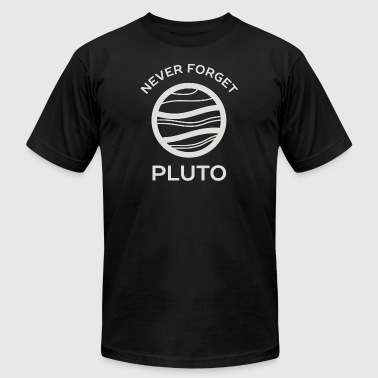 Never Forget Pluto The Planet - Men's T-Shirt by American Apparel