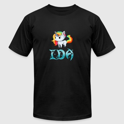 Ida Unicorn - Men's T-Shirt by American Apparel