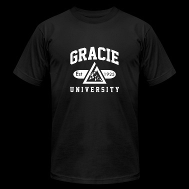 Gracie University Jiu Jitsu - Men's Fine Jersey T-Shirt