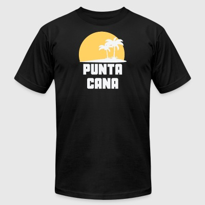 Punta Cana Dominican Republic Sunset Palm Trees - Men's T-Shirt by American Apparel