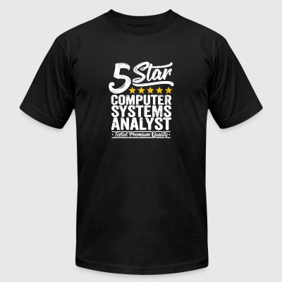 Best Computer Systems Analyst Gift 5 Star - Men's T-Shirt by American Apparel