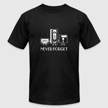 Never forget floppy disk t-shirt - Men's T-Shirt by American Apparel
