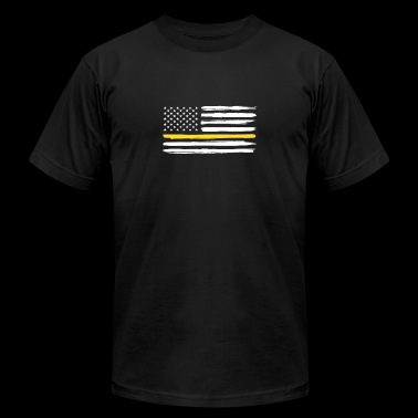 Thin Yellow Line Truck Drivers Trucker Support - Men's Fine Jersey T-Shirt