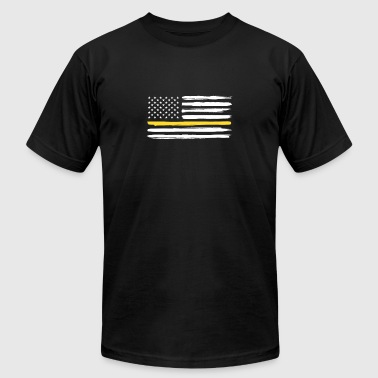 Thin Yellow Line Truck Drivers Trucker Support - Men's T-Shirt by American Apparel