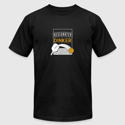 Funny Pickle Ball Gift - Designated Dinker - Men's T-Shirt by American Apparel