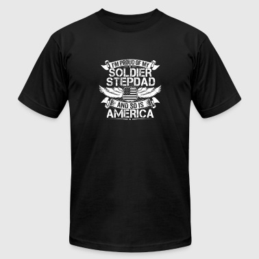 Soldier Stepdad Support Proud Stepson Stepdaughter - Men's Fine Jersey T-Shirt