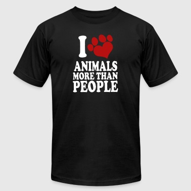 I LOVE ANIMALS MORE THAN PEOPLE - Men's Fine Jersey T-Shirt