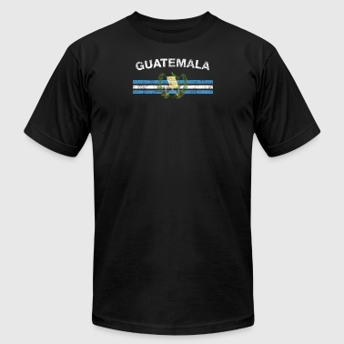 Guatemalan Flag Shirt - Guatemalan Emblem & Guatem - Men's T-Shirt by American Apparel