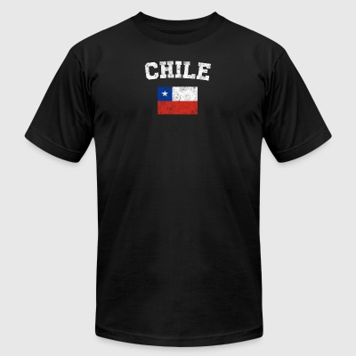 Chilean Flag Shirt - Vintage Chile T-Shirt - Men's T-Shirt by American Apparel