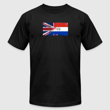 British Paraguayan Half Paraguay Half UK Flag - Men's Fine Jersey T-Shirt