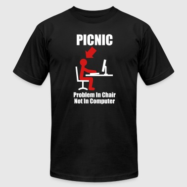 PICNIC - Problem in Chair, not in Computer - Computer - Admin - Men's Fine Jersey T-Shirt