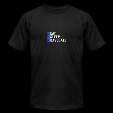 Eat Sleep Baseball Repeat Funny Quote Gag Gift - Men's Fine Jersey T-Shirt