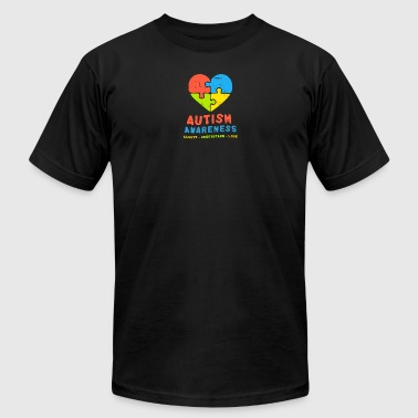 Autism Awareness Accept Understand & Love - Men's Fine Jersey T-Shirt