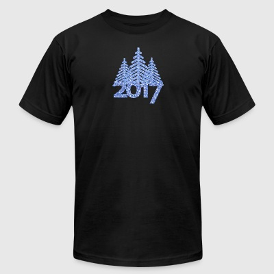 2017-christmas tree-new-year-christmas - Men's T-Shirt by American Apparel