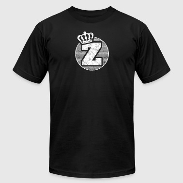 Name Letter Z Character Case Alphabetical Crown - Men's T-Shirt by American Apparel