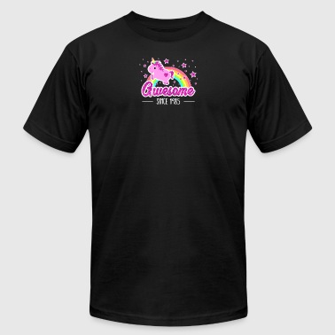 Awesome Since 1985 Birthday Year Of Birth Unicorn - Men's T-Shirt by American Apparel