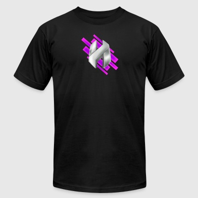 Abstract Purple - Men's T-Shirt by American Apparel