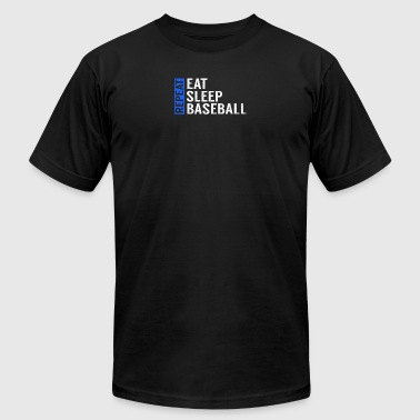 Eat Sleep Baseball Repeat Funny Quote Gag Gift - Men's T-Shirt by American Apparel