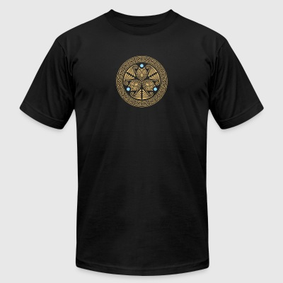 Celtic 3 Owls - Men's T-Shirt by American Apparel