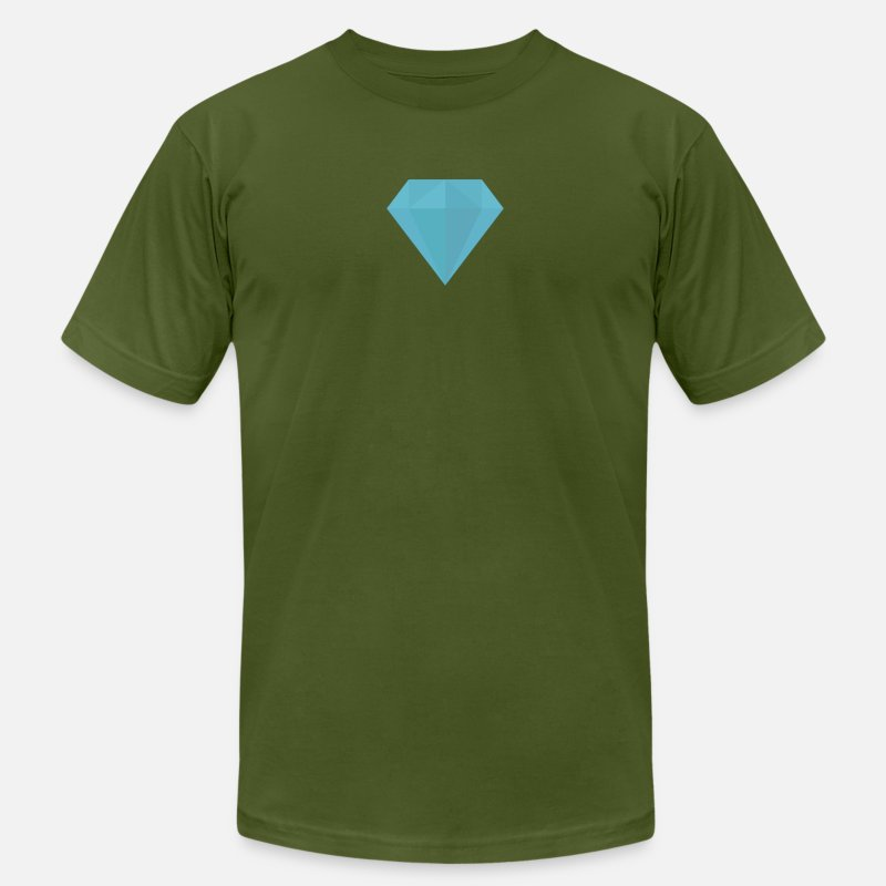 Diamond T-Shirts - long sleeve Diamond shirt - Men's Jersey T-Shirt olive