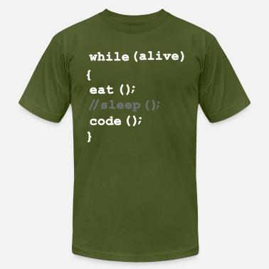 Html Eat, Don't Sleep, Code, Repeat. Funny Software Pro - Men's  Jersey T-Shirt