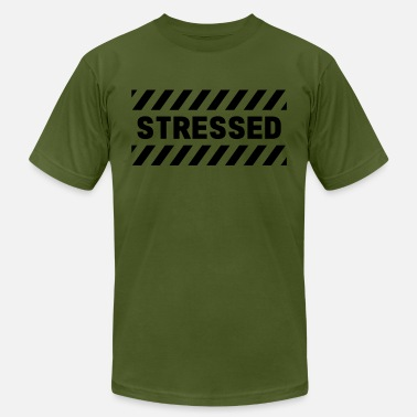 Caution Tape STRESSED - Men's  Jersey T-Shirt