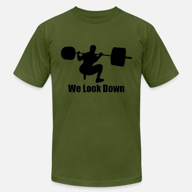 Starting Strength Low Bar Squat - We Look Down 2 - Men's  Jersey T-Shirt