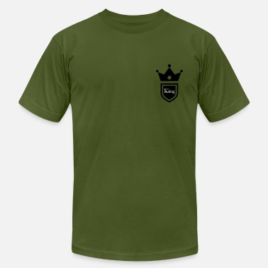 Pocket Kings King and Queen breast pocket couple t-shirt - Men's Jersey T-Shirt
