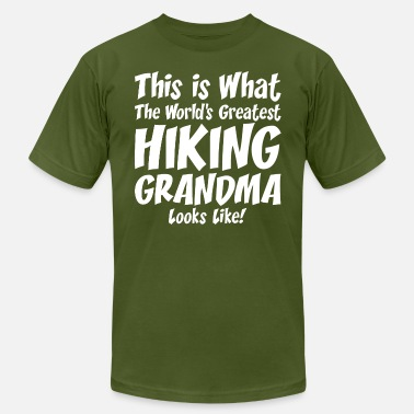 Hiking Grandma This Is What The Worlds Greatest Hiking Grandma - Men's Jersey T-Shirt