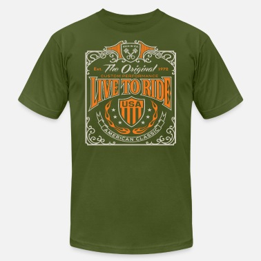 Motorcycle Live To Ride - Unisex Jersey T-Shirt