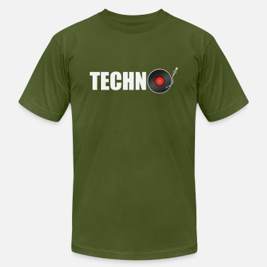 Music Techno techno music - Men's  Jersey T-Shirt
