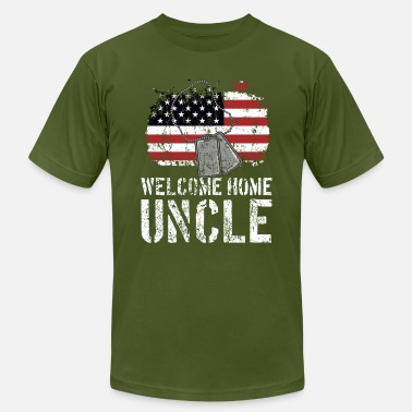 Free State Welcome Home Uncle Military Matching Quote Gift Id - Men's Jersey T-Shirt