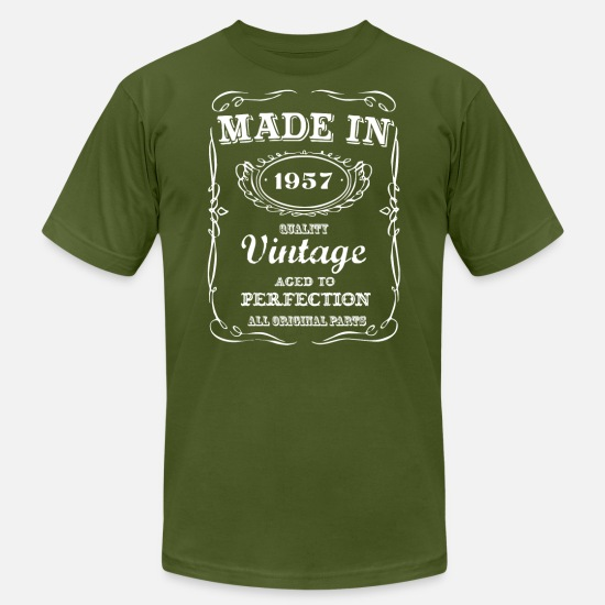 Funny 60th Birthday T-Shirts - Made in 1957 Funny T shirt 60th Birthday - Men's Jersey T-Shirt olive