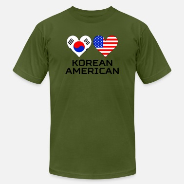 South Korean Heart Korean American Hearts - Men's Jersey T-Shirt