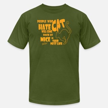 Hate Cat People who hate cat - Men's  Jersey T-Shirt