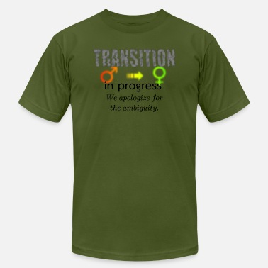 M2F Transition in progress #1, light bg - Men's  Jersey T-Shirt