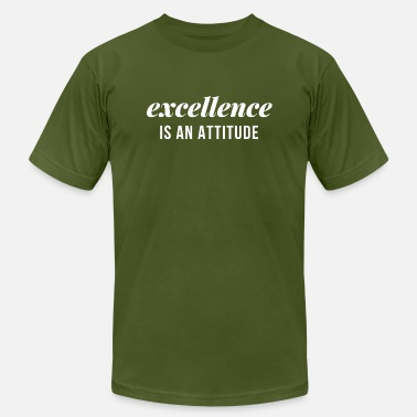 Busy Attitude Excellence is an Attitude. (White) - Men's  Jersey T-Shirt